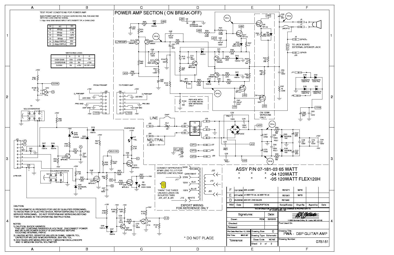 Crate Flexwave Guitar Amp Pdf Service Manual Download  Schematics  Eeprom  Repair Info For