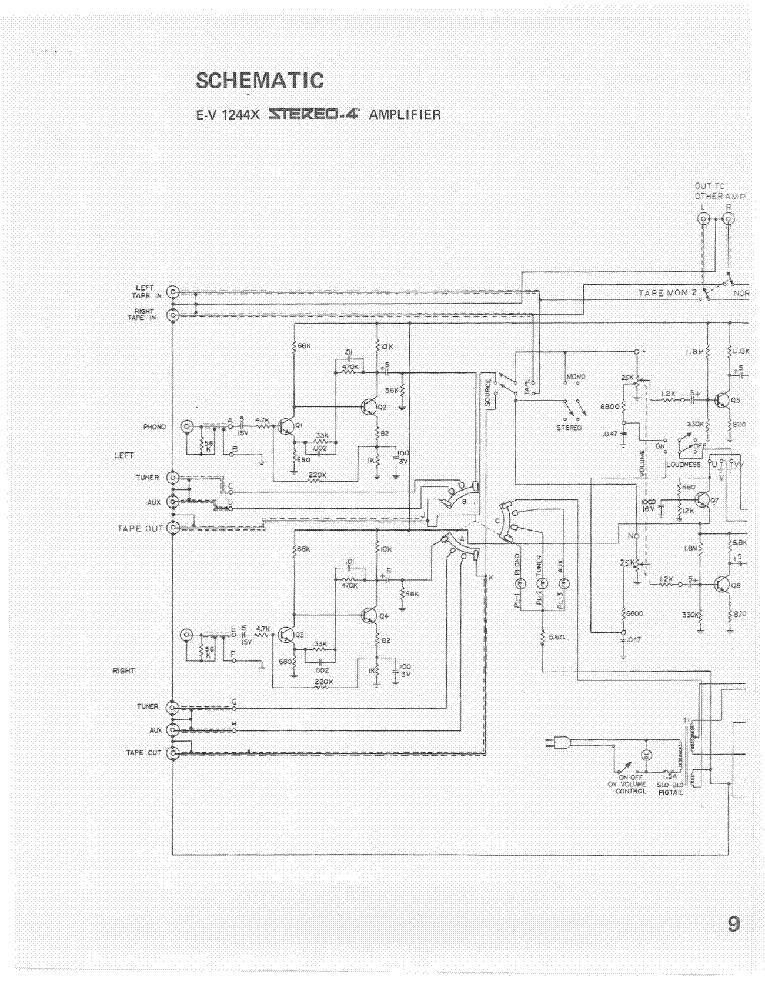 ELECTRO-VOICE EV 1244X SCHEMATIC Service Manual download, schematics ...