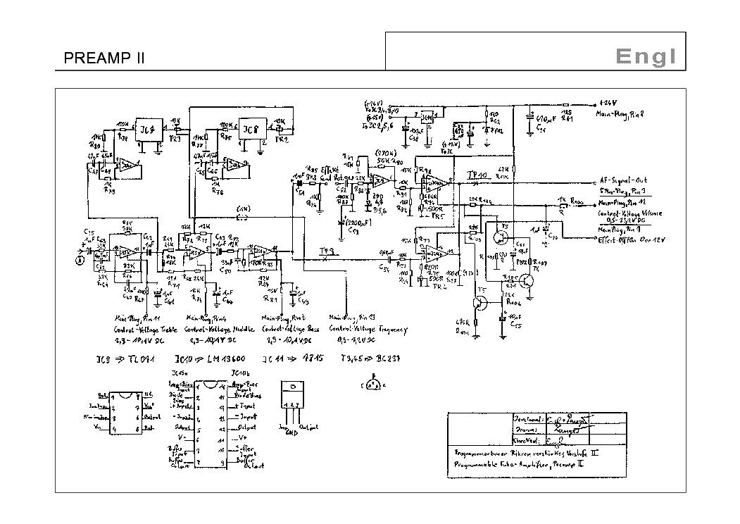 engl preamp ii sch service manual download  schematics