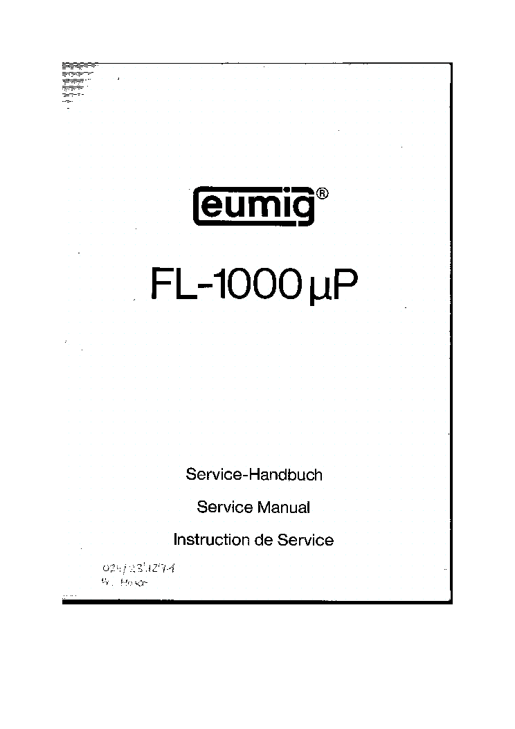 EUMIG FL1000 QP service manual