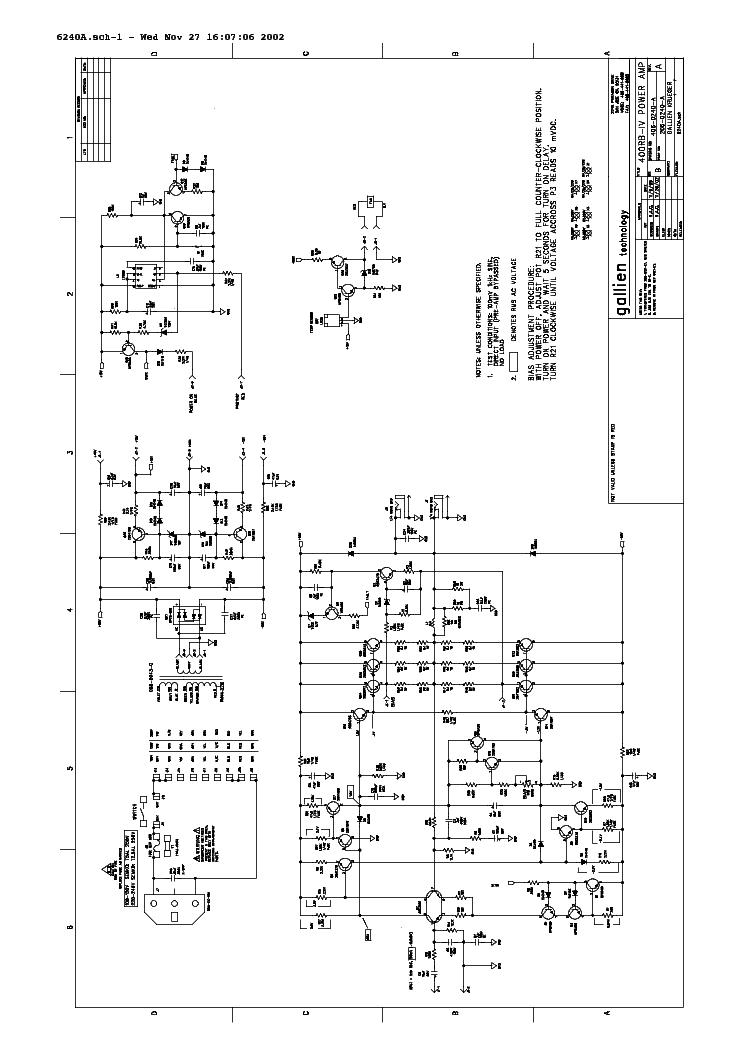gallien krueger 700rb 1001rb combo amp 1998 sch service