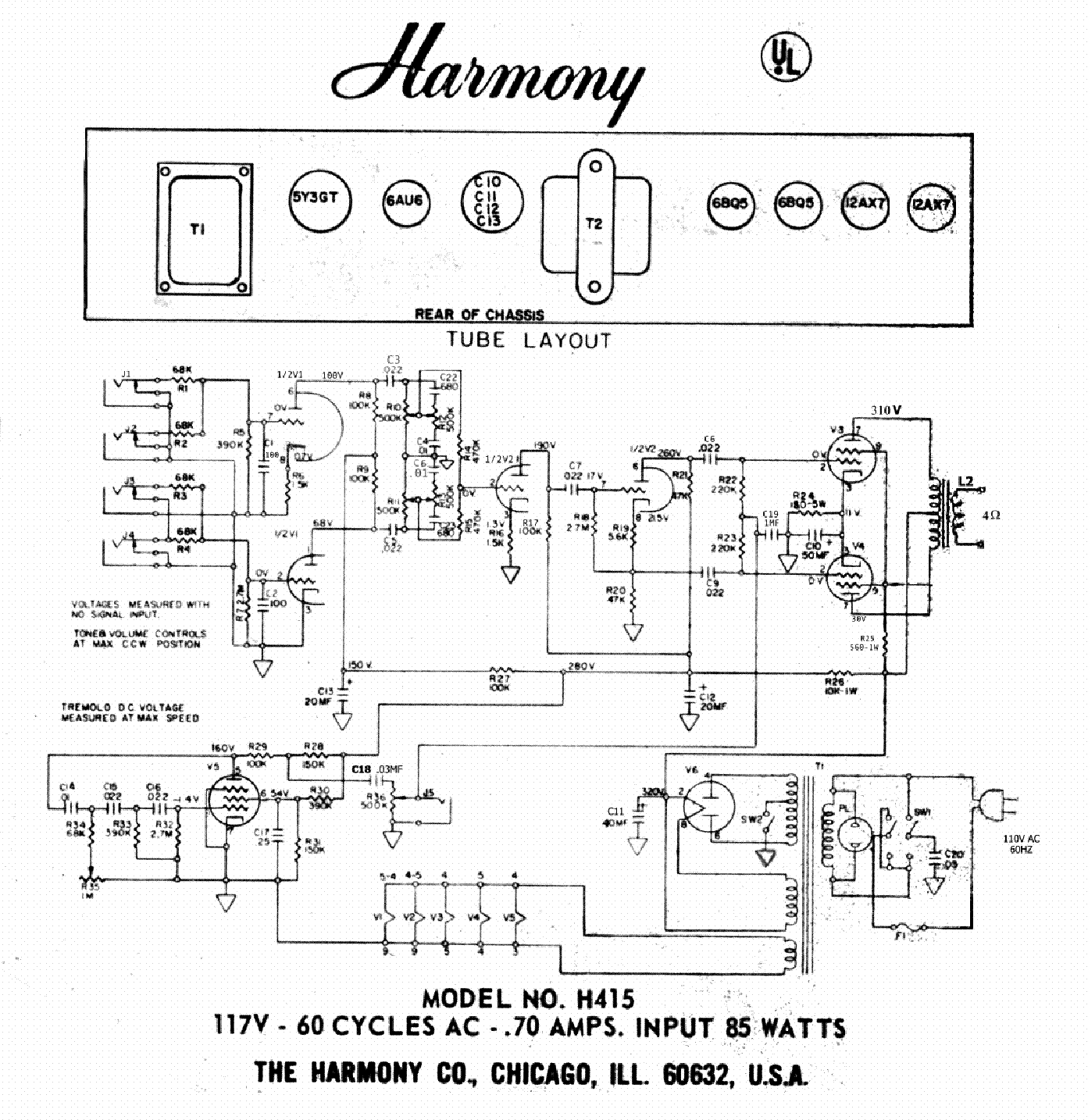 harmony wiring diagram wiring diagram read Danelectro Wiring Diagram