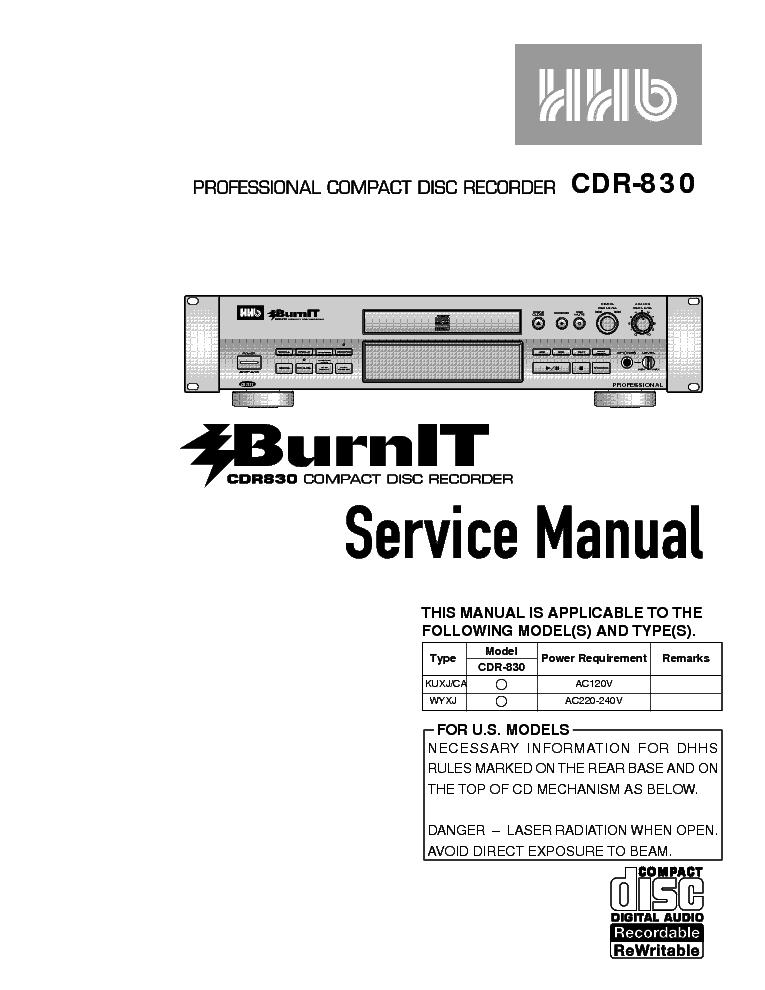 hhb cdr 850 disc recorder sm service manual download schematics rh elektrotanya com Kindle Fire User Guide Clip Art User Guide