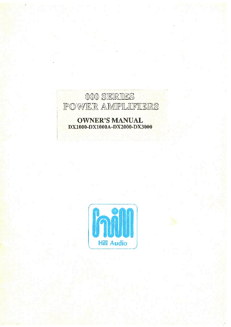 Hill Dx1000 Dx2000 Dx3000 Amp Sm Service Manual Download  Schematics  Eeprom  Repair Info For