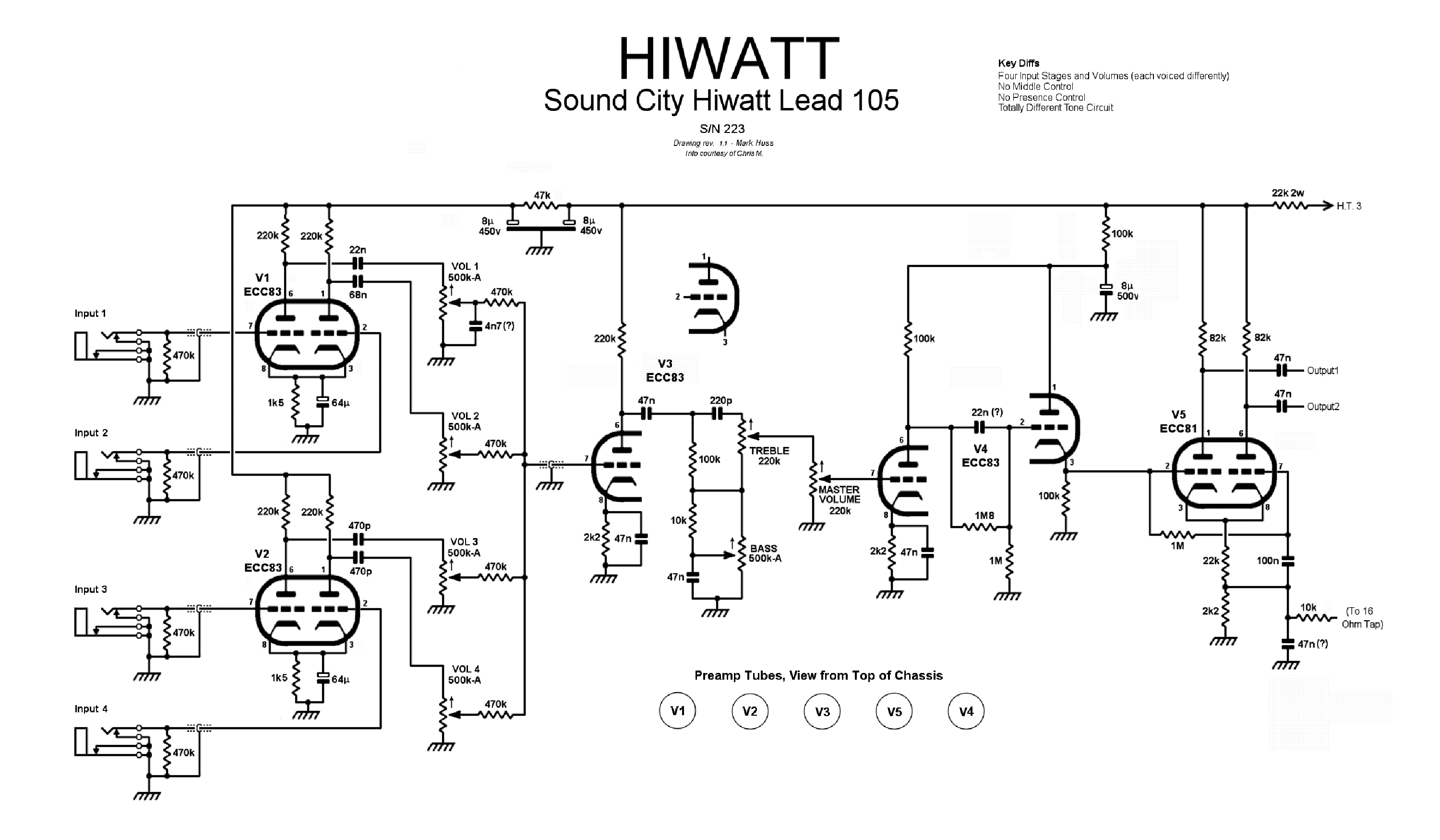 Hiwatt Custom 100 Dr103 Schematic Wire Center Computer Board Circuit Diagram 71 Computerrelatedcircuit Sound City Lead Sc105 Sch Service Manual Download Rh Elektrotanya Com Jimmy Page 7