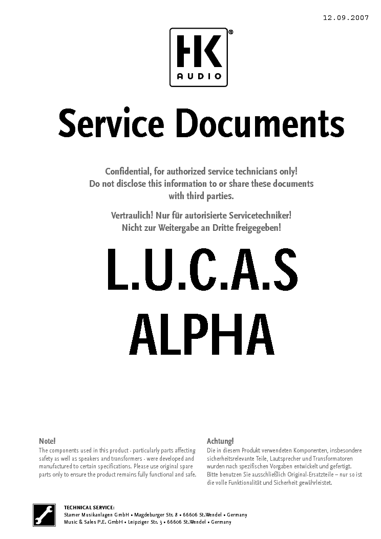 hk audio lucas alpha service manual download schematics eeprom rh elektrotanya com lucas cav repair manual lucas epic repair manual