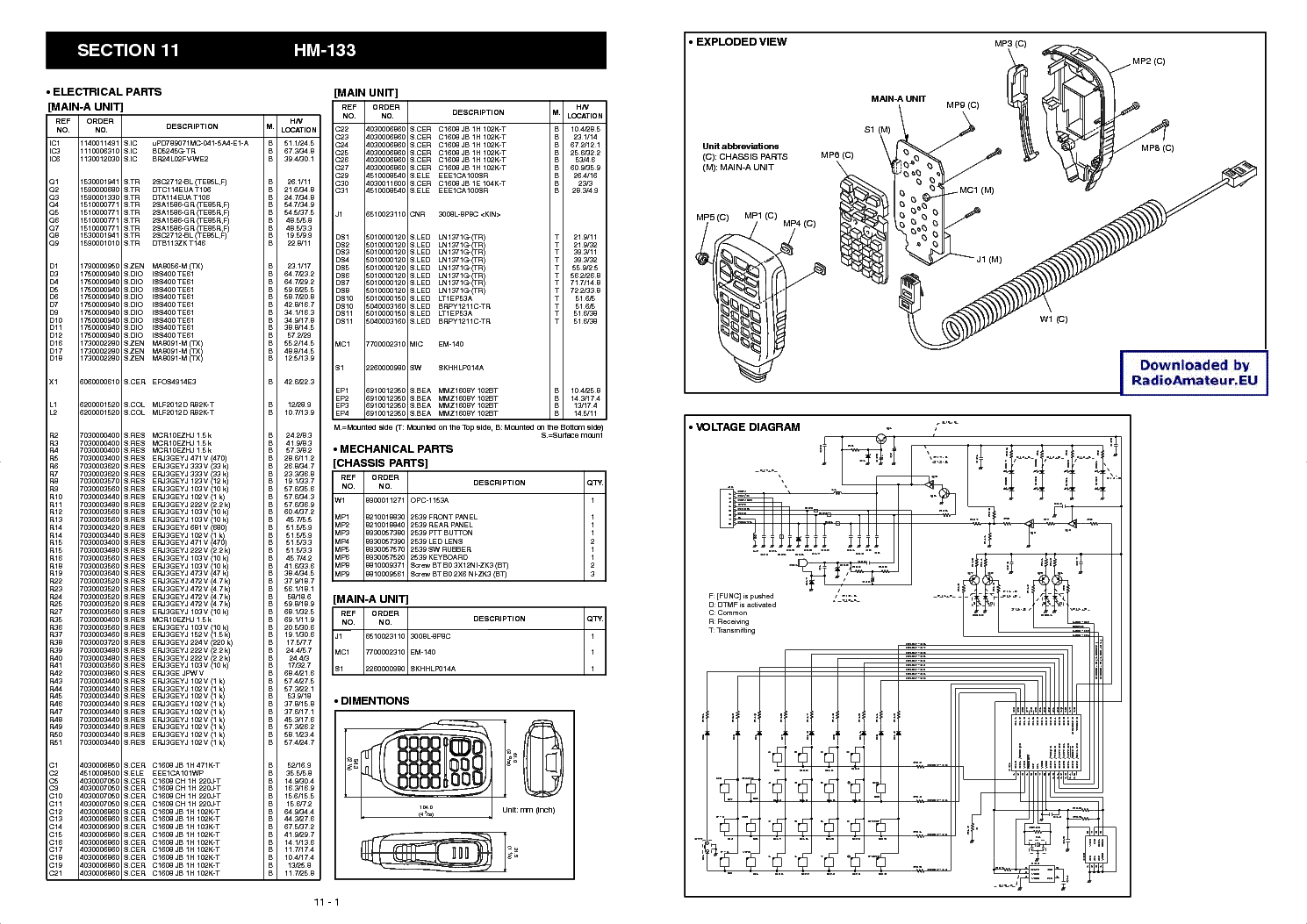 Icom Hm 12 14 Sch Service Manual Download Schematics