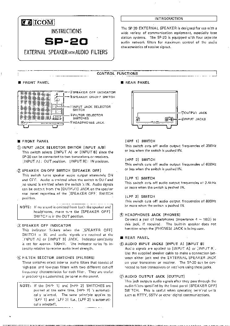 Icom Sp 20 Service Manual Download Schematics Eeprom