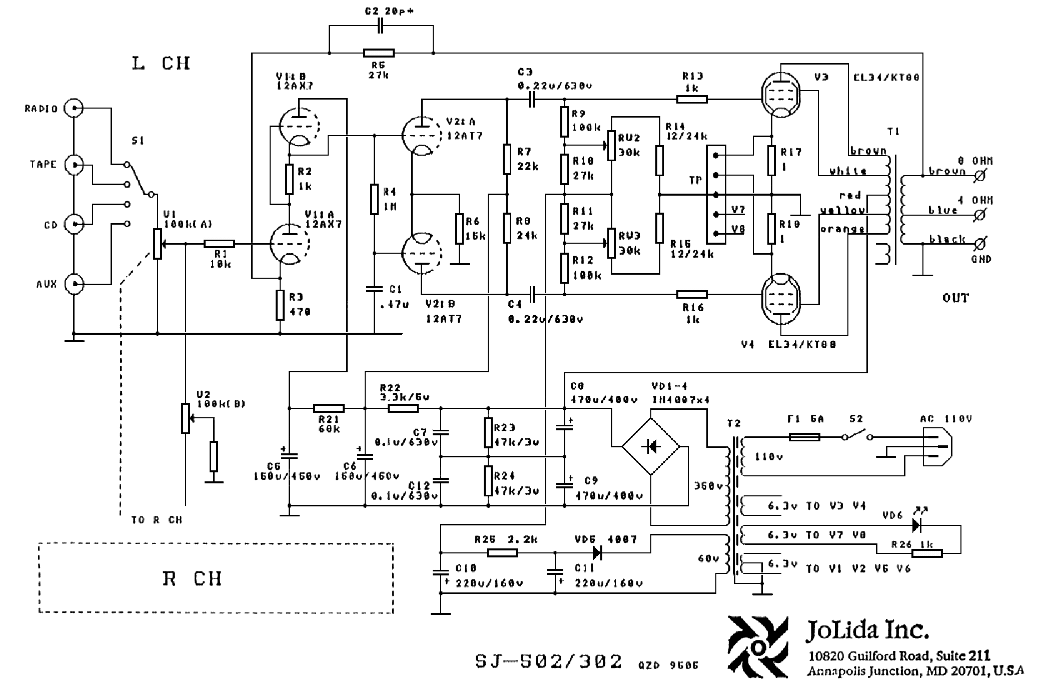 jolida 302b sch service manual download  schematics