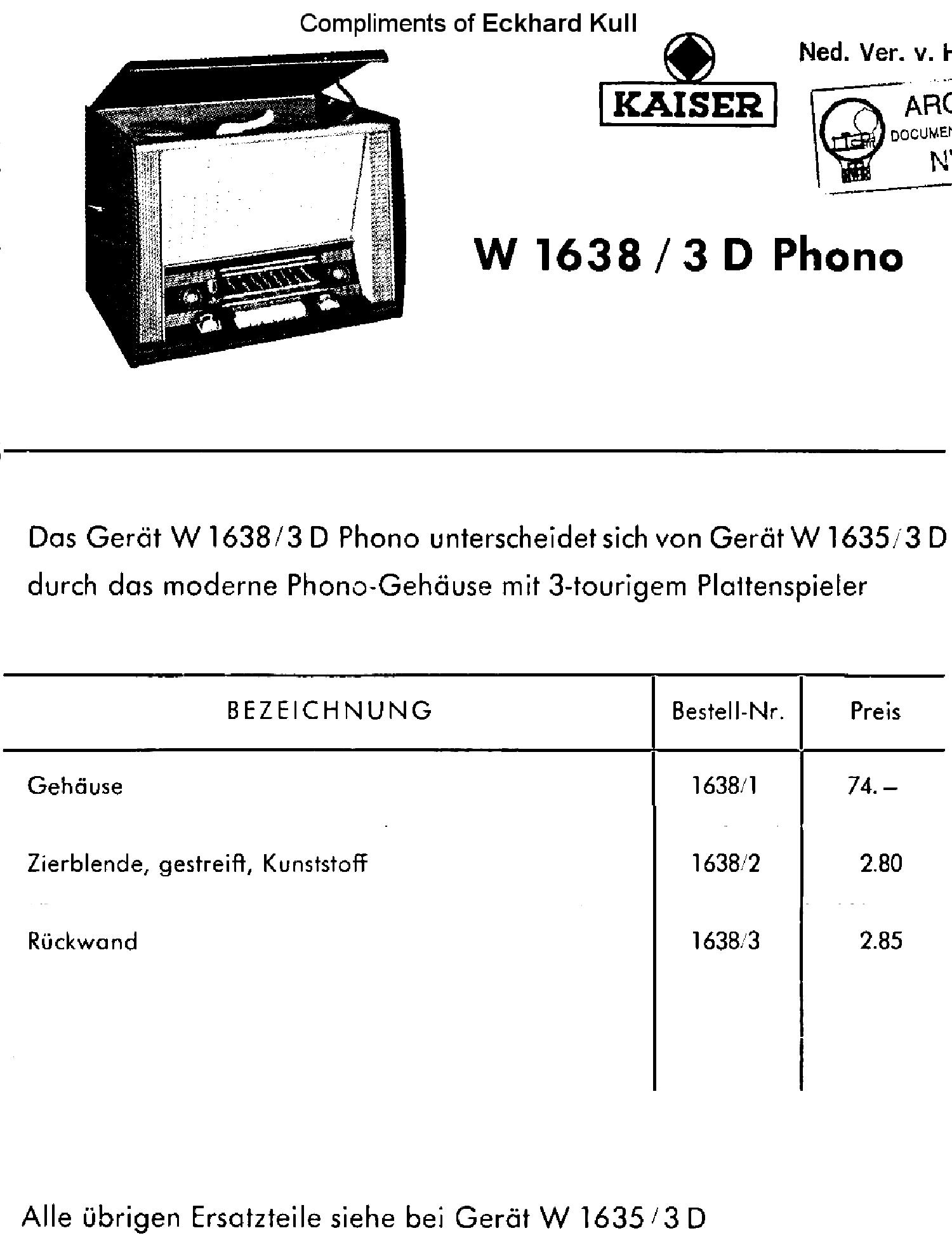 kaiser w1638 3d phono receiver sm service manual download rh elektrotanya com Kaiser Permanente Member Services Kaiser Permanente Irvine