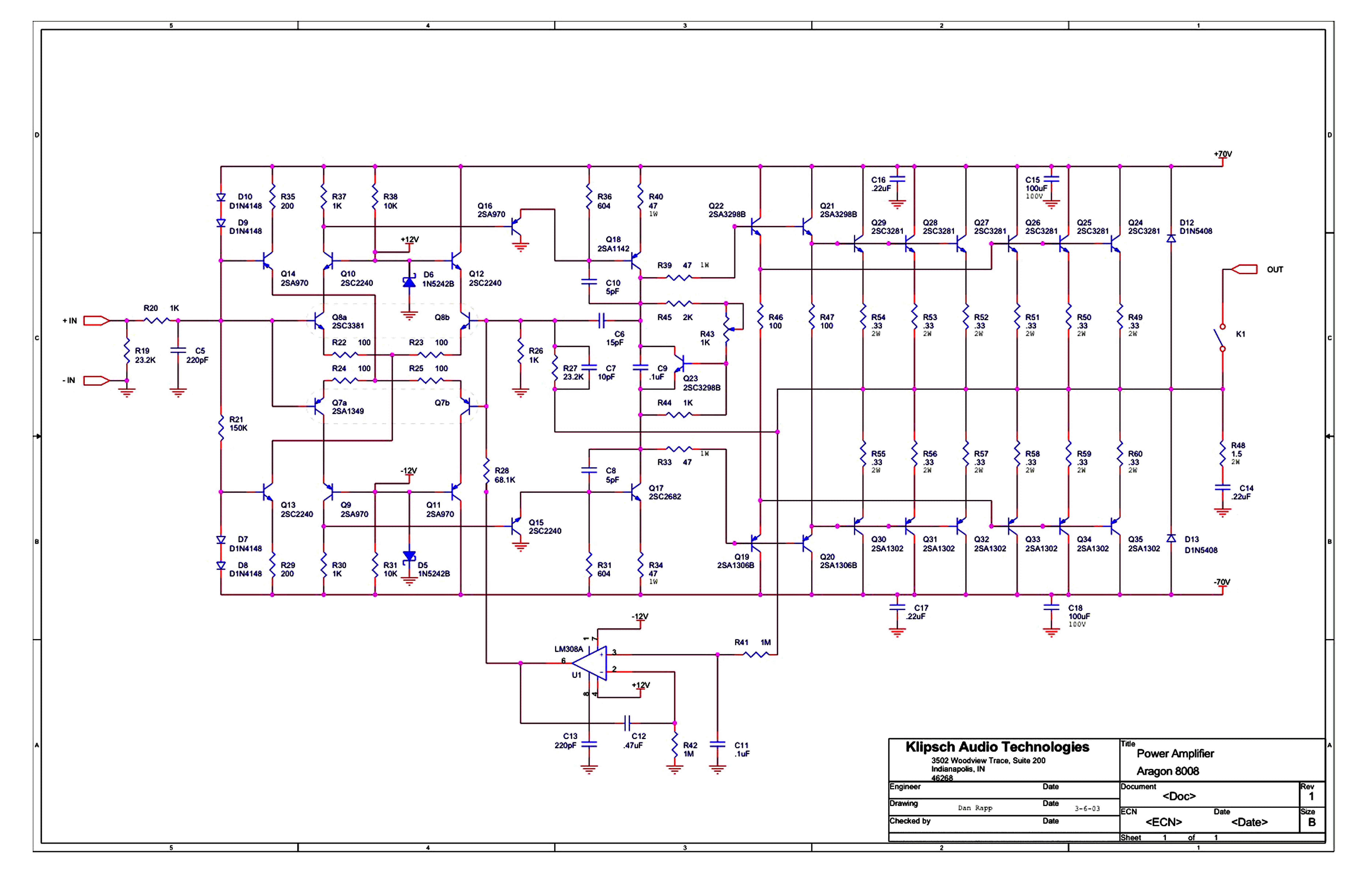 Klips Audio Designs Aragon 8008 Ii Schematic Service Manual Download Klipsch Promedia 2 1 Wiring Diagram 1st Page