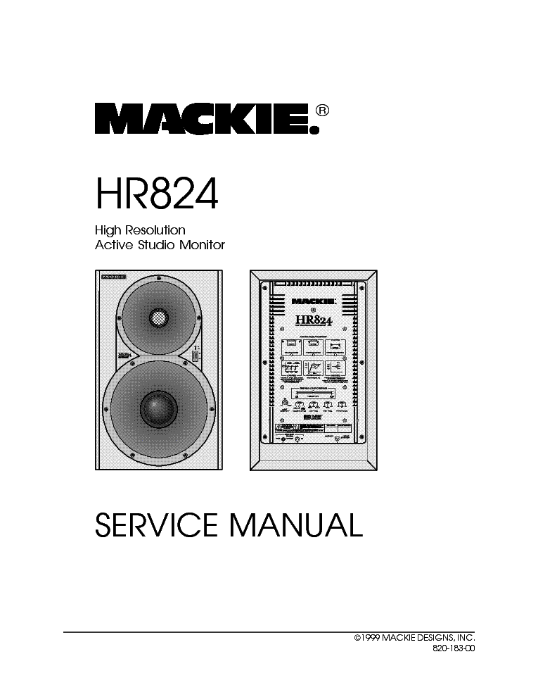 Mackie Hr824 Active Studio Monitor Service Manual Download  Schematics  Eeprom  Repair Info For