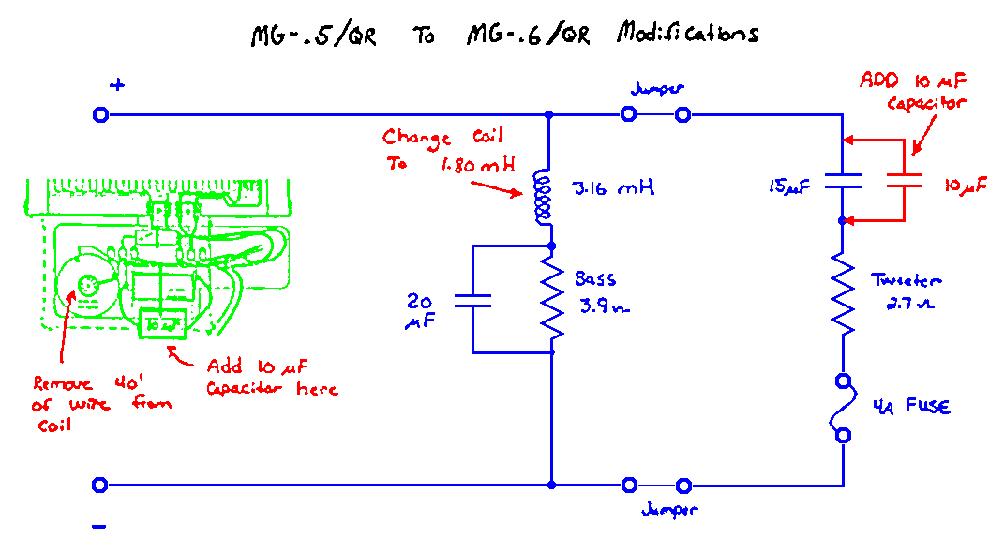 magnepan mg 5 qr mg 6 qr mod twoo way cross filter sch service rh elektrotanya com Magnepan 1.6Qr Review Magnepan 1 6QR