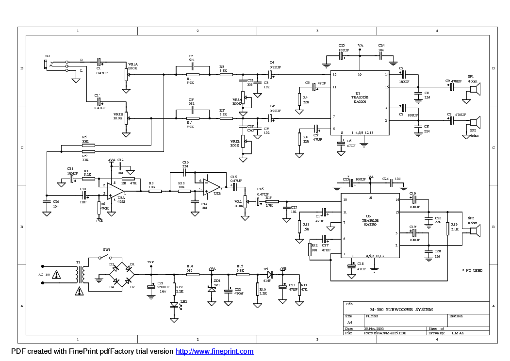microlab m 500 subwoofer system svcsch audio sch service manual rh elektrotanya com M-Audio Logo M-Audio Drivers