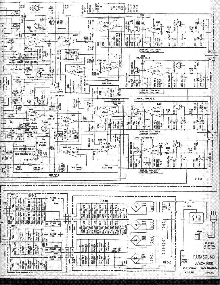 Parasound Dac 1000 Sch Service Manual Download  Schematics