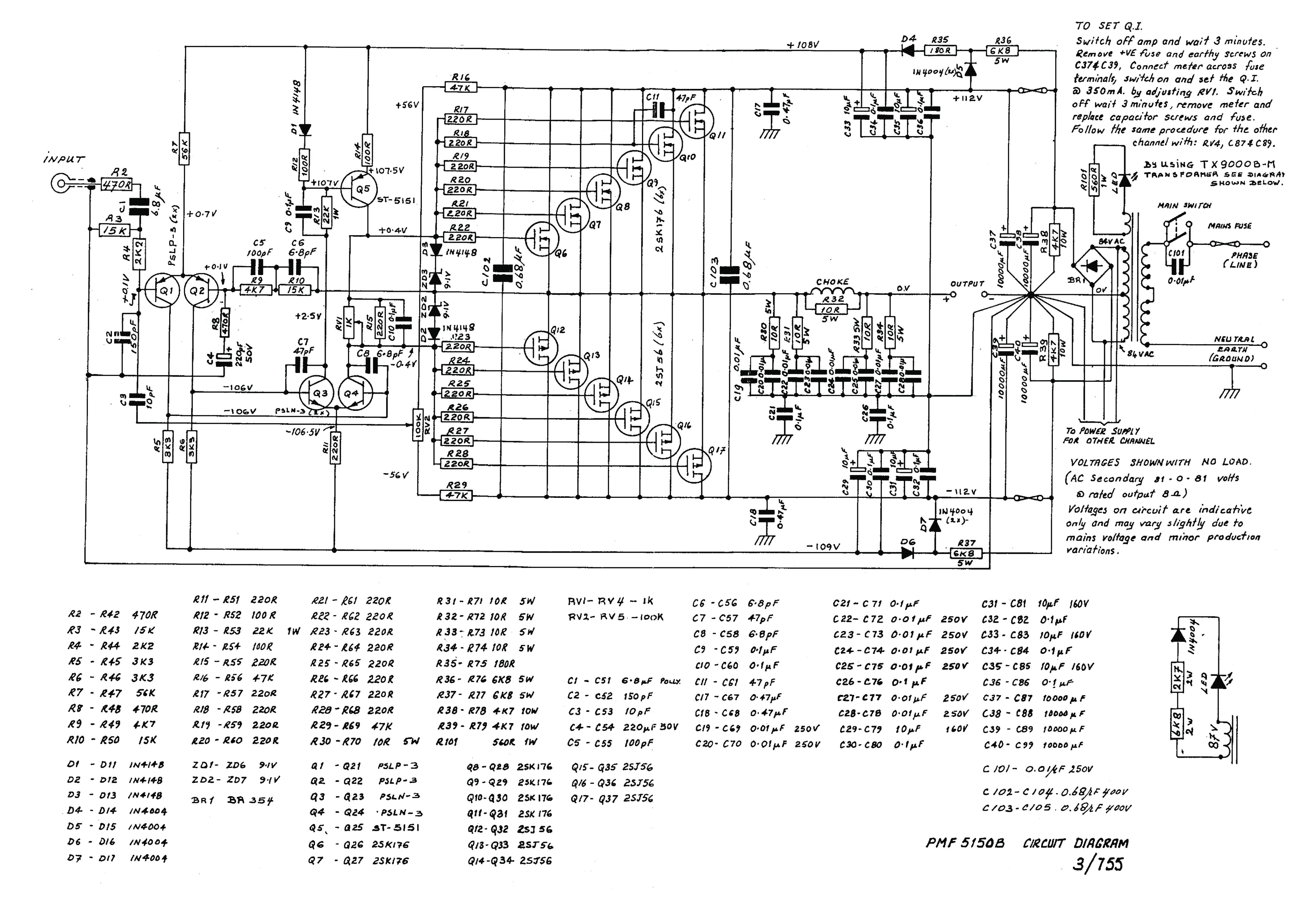Perreaux Pmf 2150 B Mosfet Audio Pa 1968 Sch Service