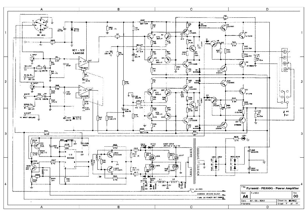 PYRAMID PB300G SCHEMATIC Service Manual download, schematics, eeprom