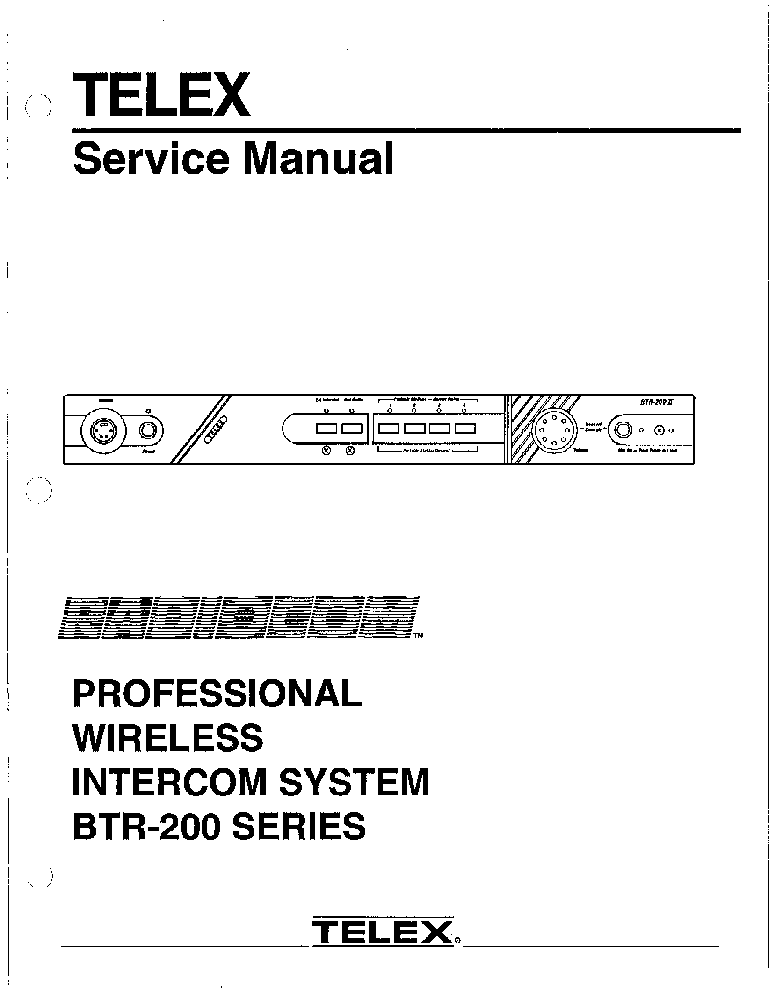RADIOCOM TELEX-BTR200 SM Service Manual download, schematics, eeprom