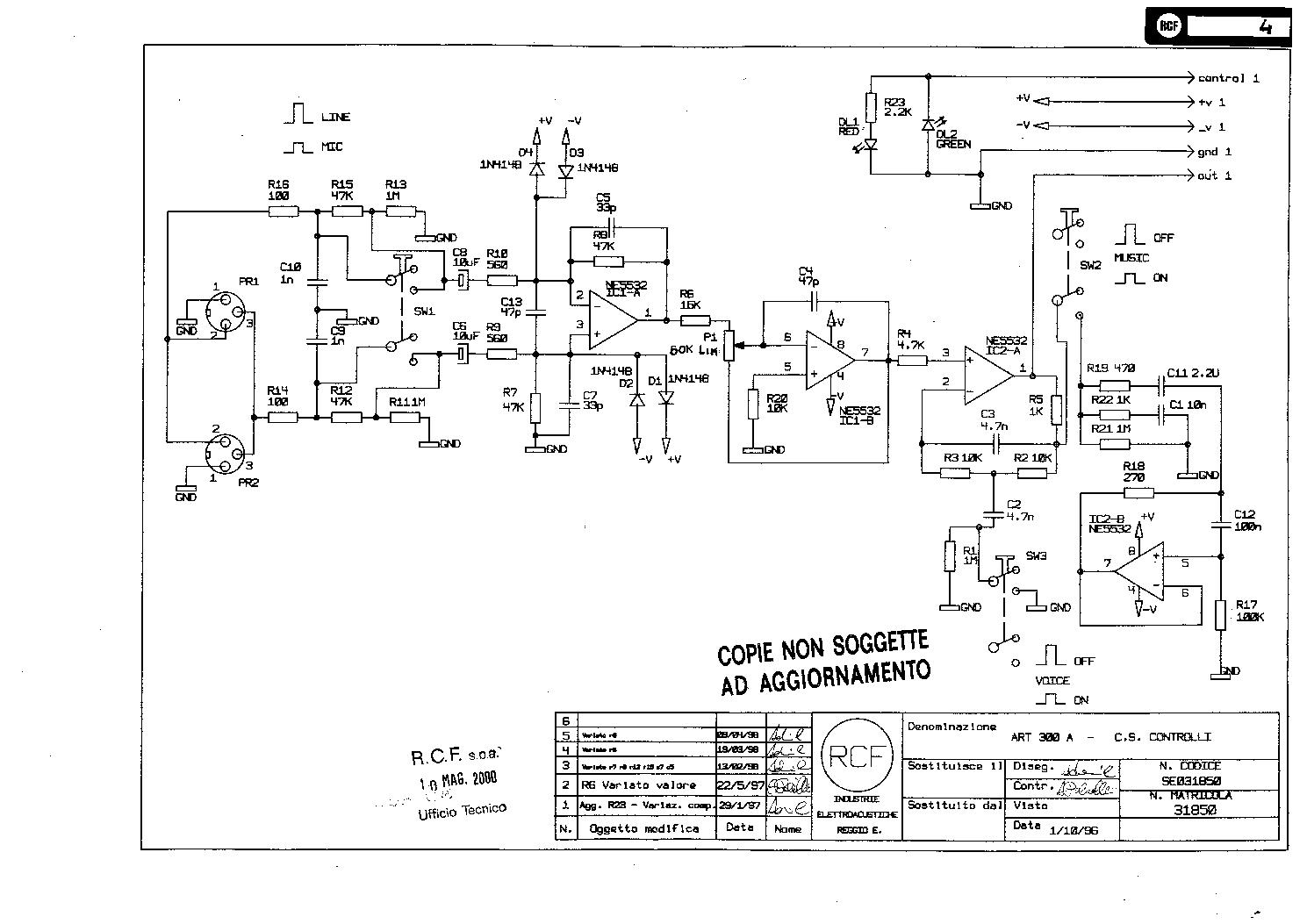Rcf art312a se515639 a1 sch service manual download, schematics.
