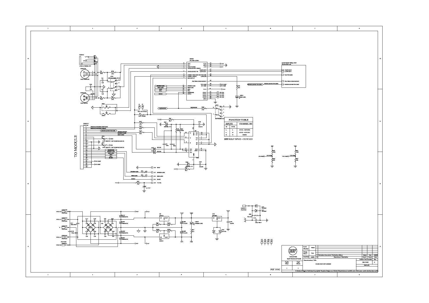 RCF ART315A BASS SCH Service Manual download, schematics, eeprom ...