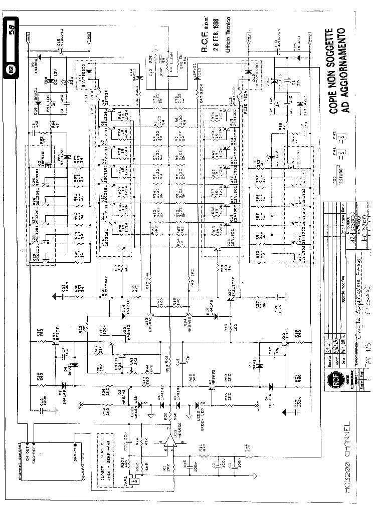 rcf art300a sch service manual download  schematics  eeprom  repair info for electronics experts