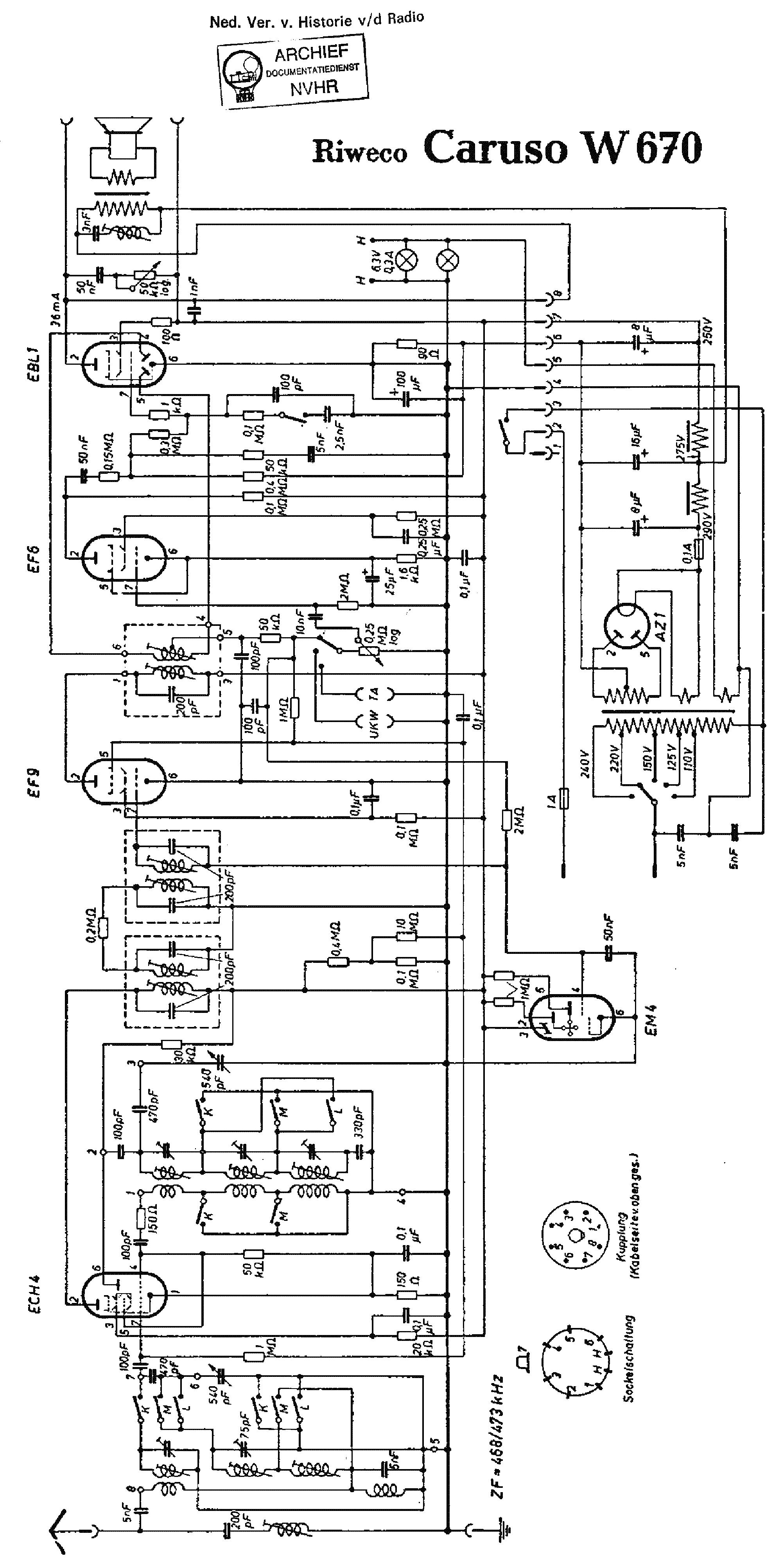 RIWECO W670 CARUSO AC RECEIVER SCH service manual (1st page)