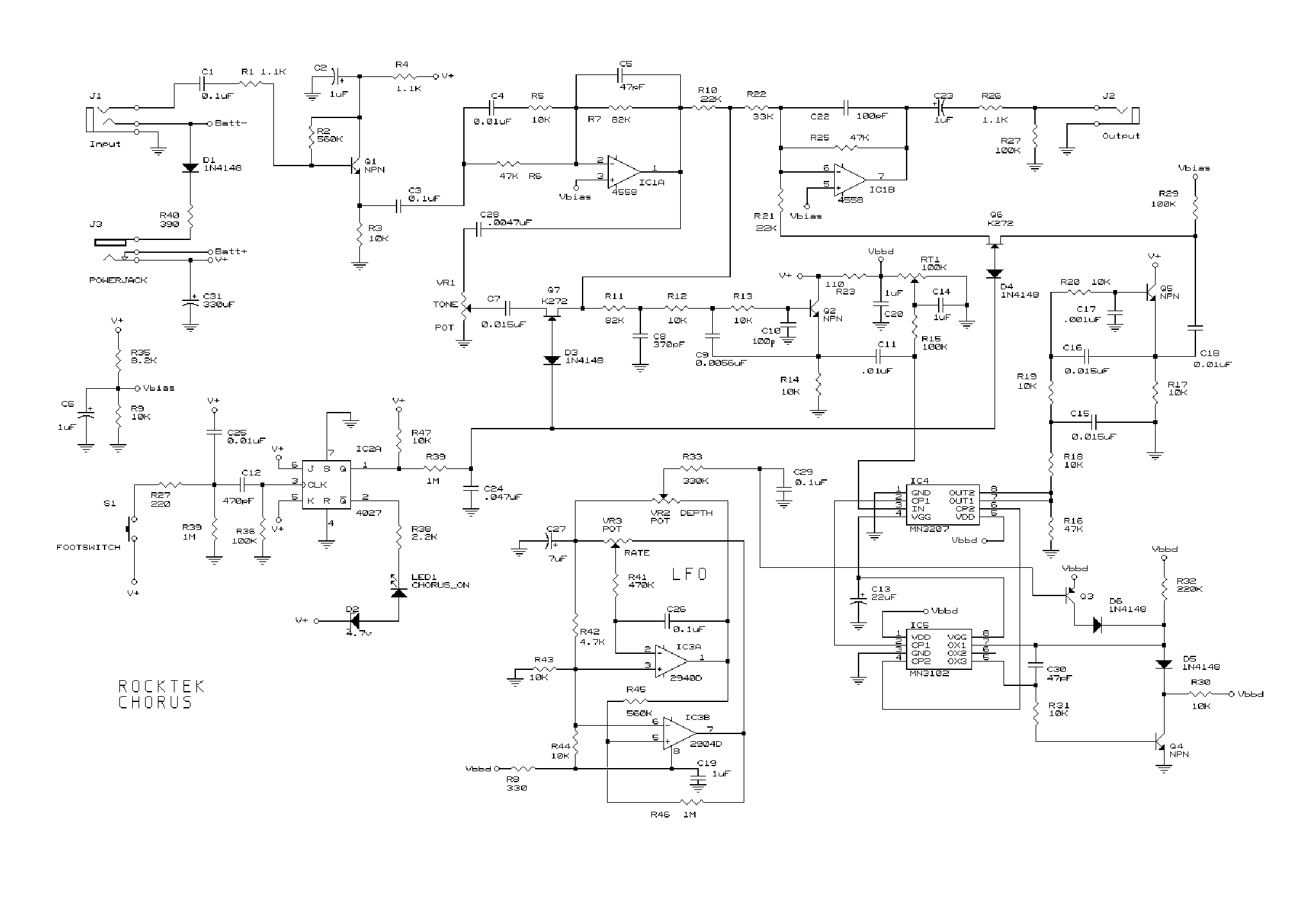 Rocktek Chorus Schematic - DIY Enthusiasts Wiring Diagrams • on fender super reverb schematic, fender ultimate chorus specs, fender princeton 650 schematic, fender power chorus schematic, fender princeton 112 schematic, roland jazz chorus schematic, fender frontman 15g schematic, fender amp manuals, fender pro reverb schematic, fender deluxe 85 schematic, fender frontman 25r schematic, fender blues deluxe schematic, fender the twin schematic, princeton reverb schematic, fender princeton 65 schematic, fender hot rod deville schematic, fender amp schematics, fender m 80 manual, fender frontman 212r schematic, fender champ schematic aa764,