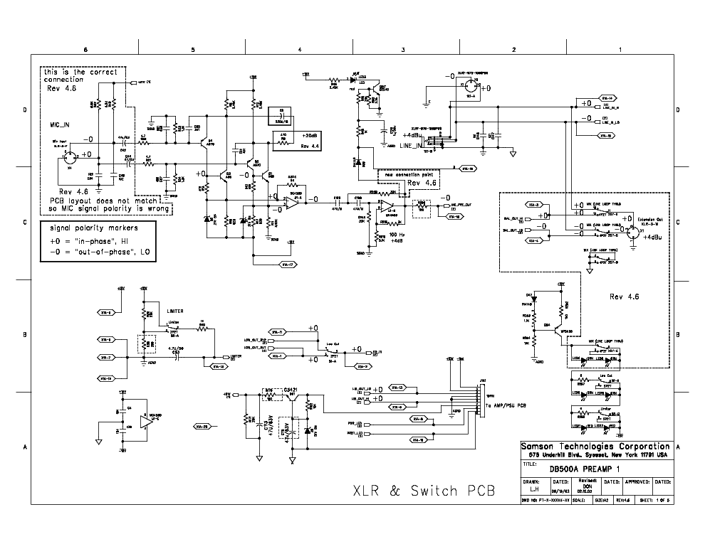 Samson Db500a Sch Service Manual Download  Schematics  Eeprom  Repair Info For Electronics Experts