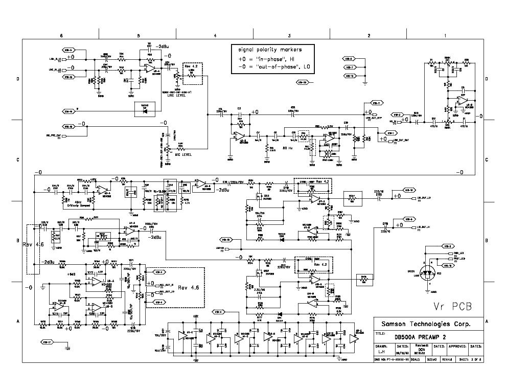 samson db500a sch service manual download, schematics, eeprom