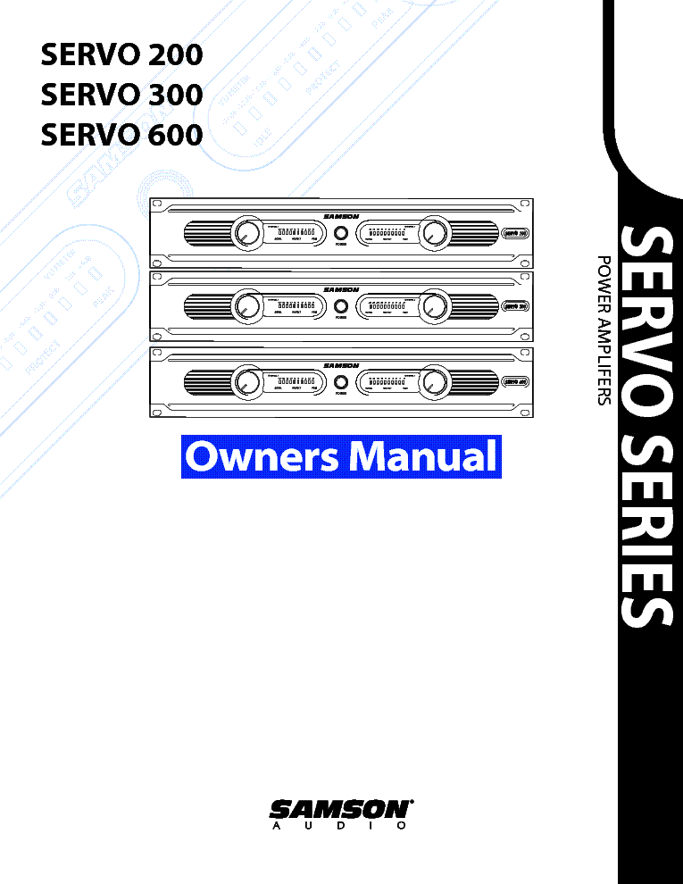 samson servo600 servo23600 usermanual service manual download rh elektrotanya com Operators Manual User Manual Template