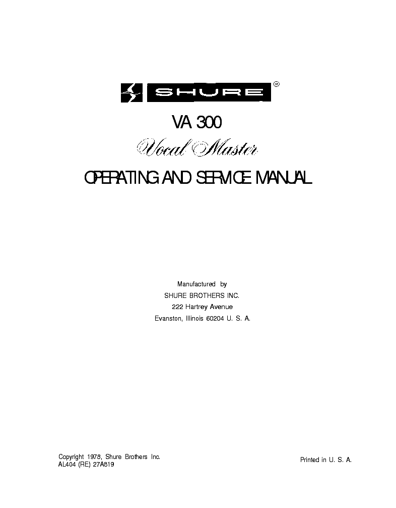 Shure M68 M68fc Service Manual Download  Schematics