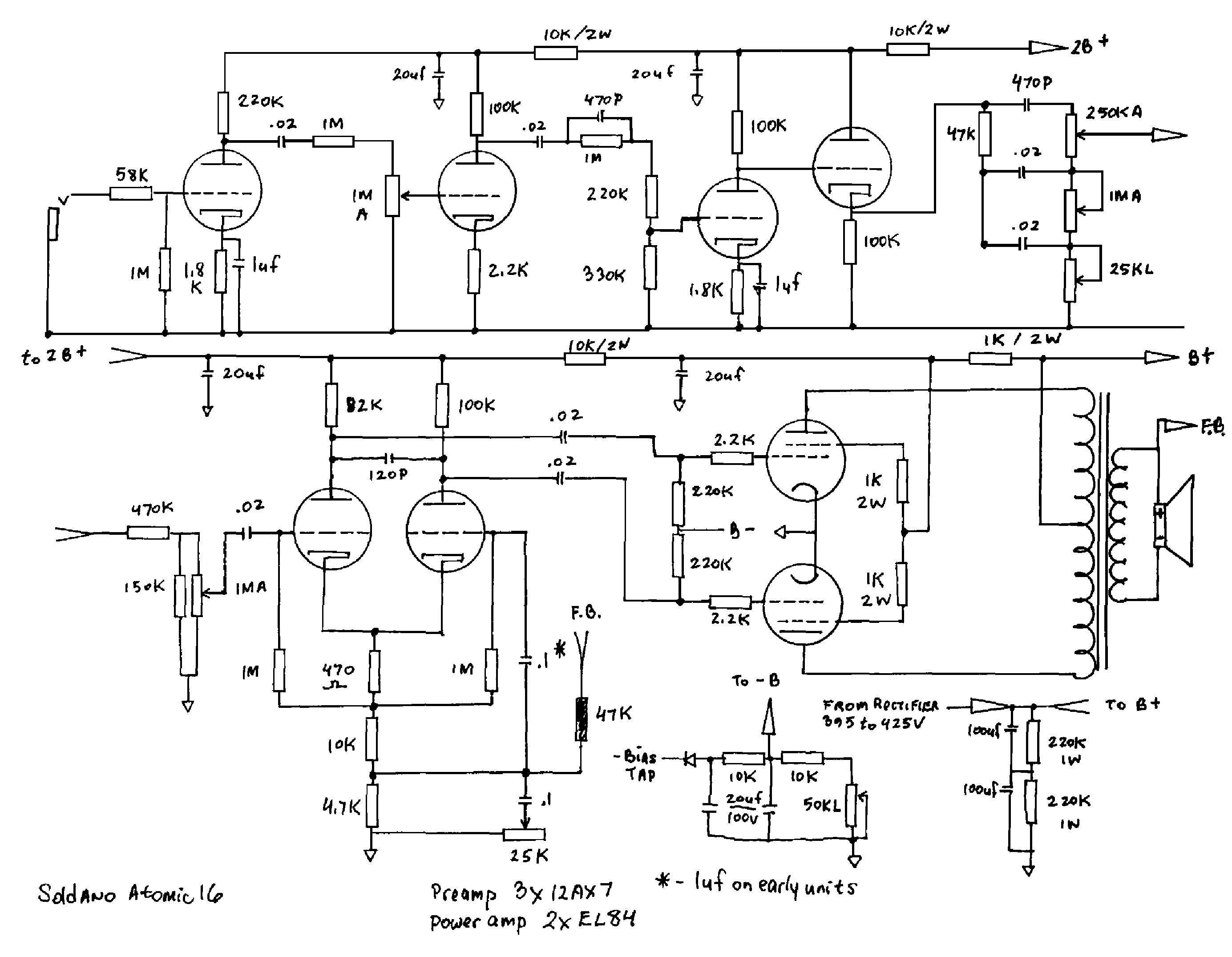 soldano atomic 16 service manual download  schematics