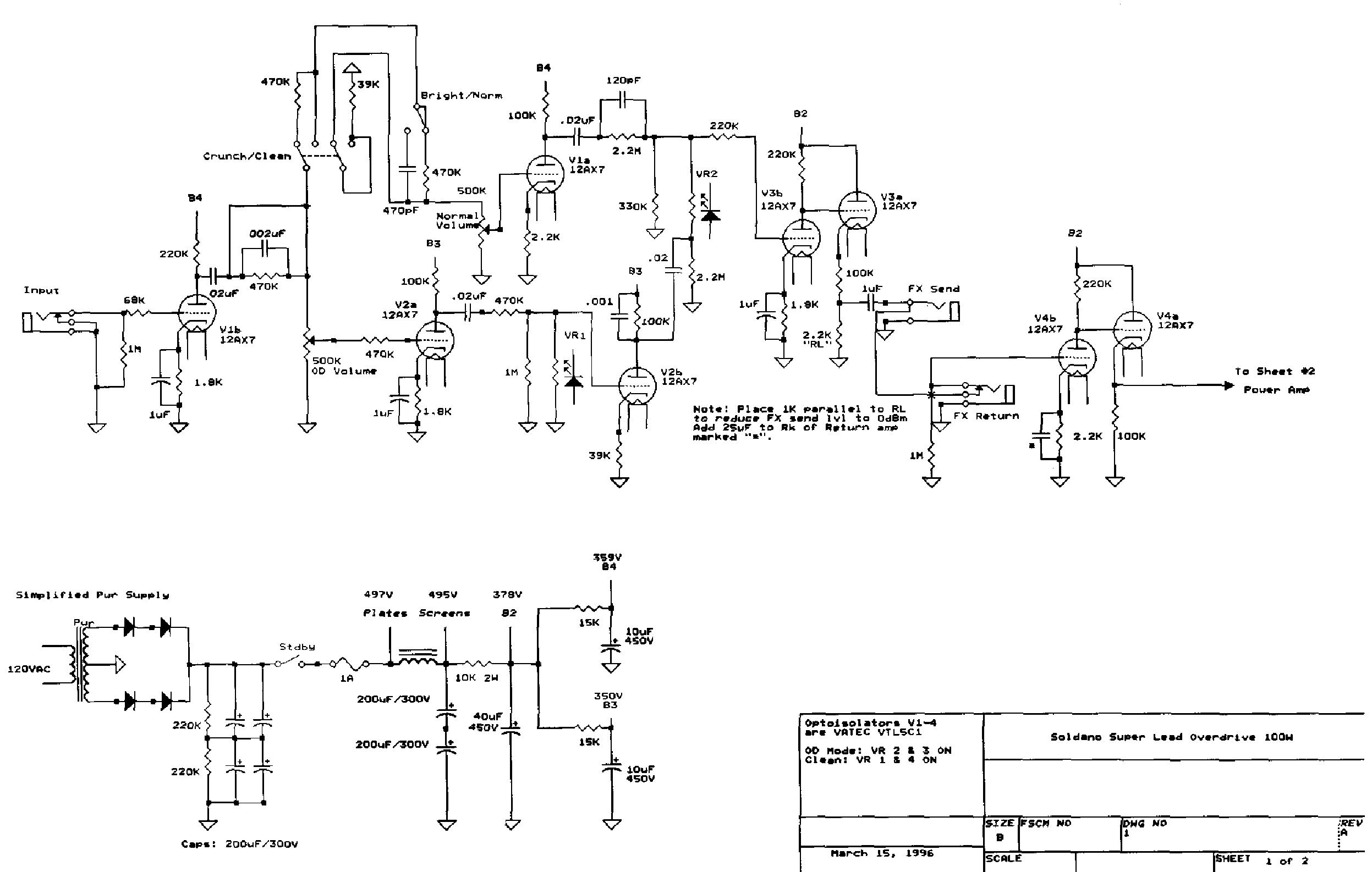 soldano sp77 preamp service manual download  schematics