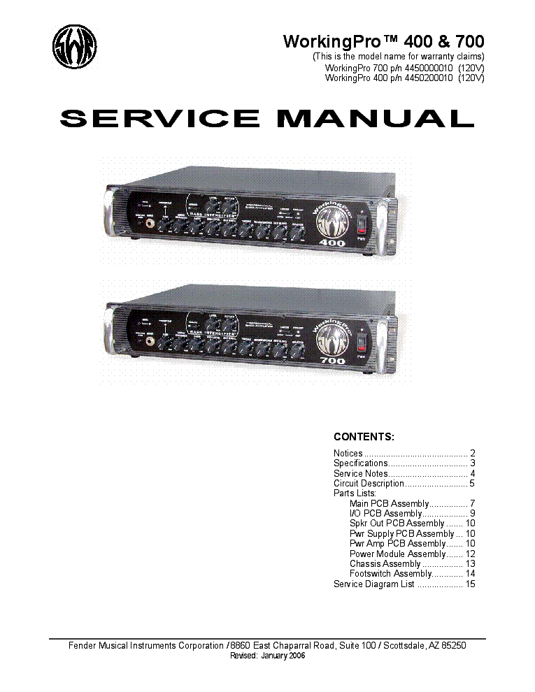 swr workingpro 400 and 700 service manual download schematics rh elektrotanya com Service Station chaparral boat service manual