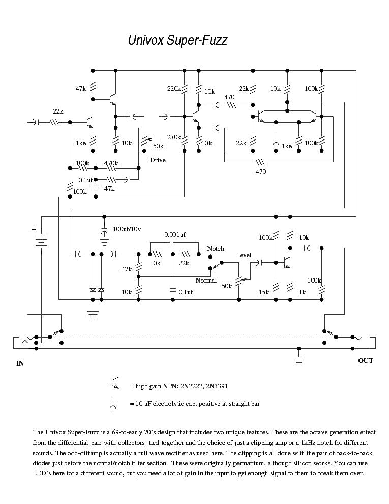 univox_super-fuzz.pdf_1 Univox Super Fuzz Schematic on