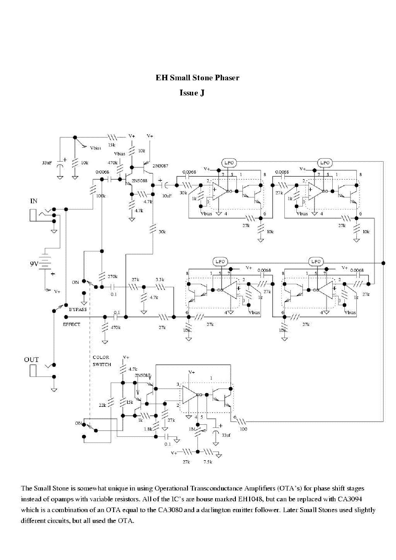 ELECTRO-HARMONIX SMALL STONE PHASER SCH Service Manual download ...