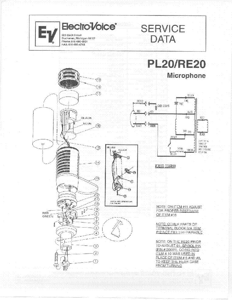 electro voice_pl20_re20_mikrofon.pdf_1 electro voice schematics electro voice ev 1244x schematic Neumann U87 at gsmportal.co