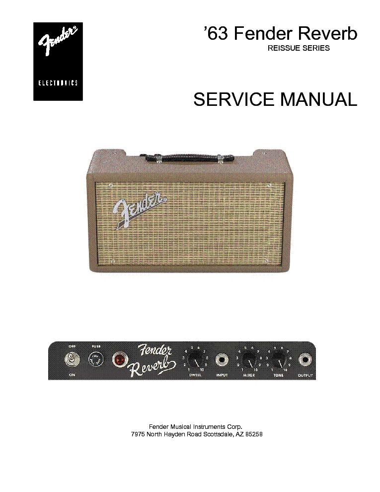 fender 63 reverb guitar amplifier sm service manual download rh elektrotanya com fender 63 reverb pedal review boss 63 fender reverb pedal manual