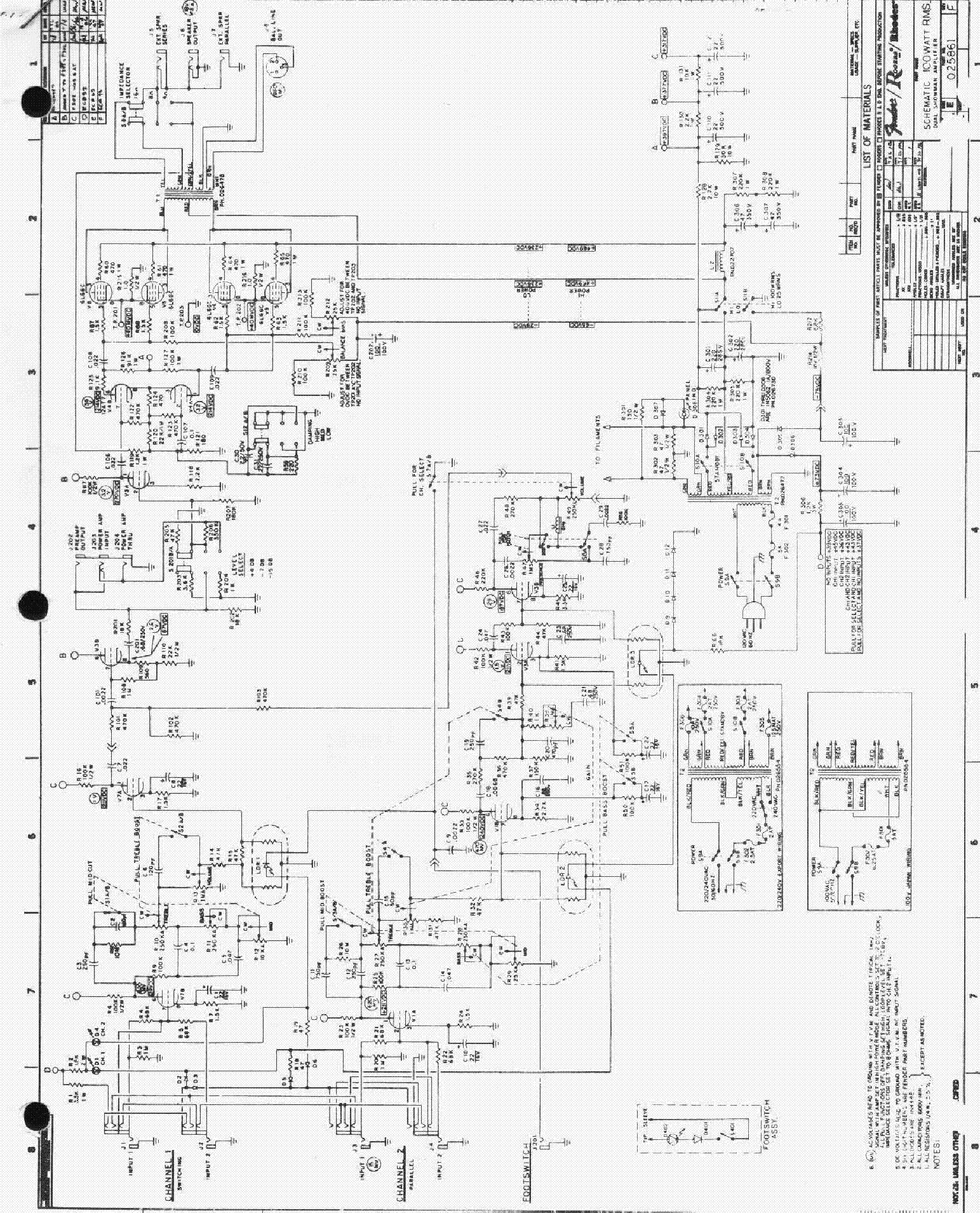 fender acoustasonic sfx ii guitar amplifier sch service