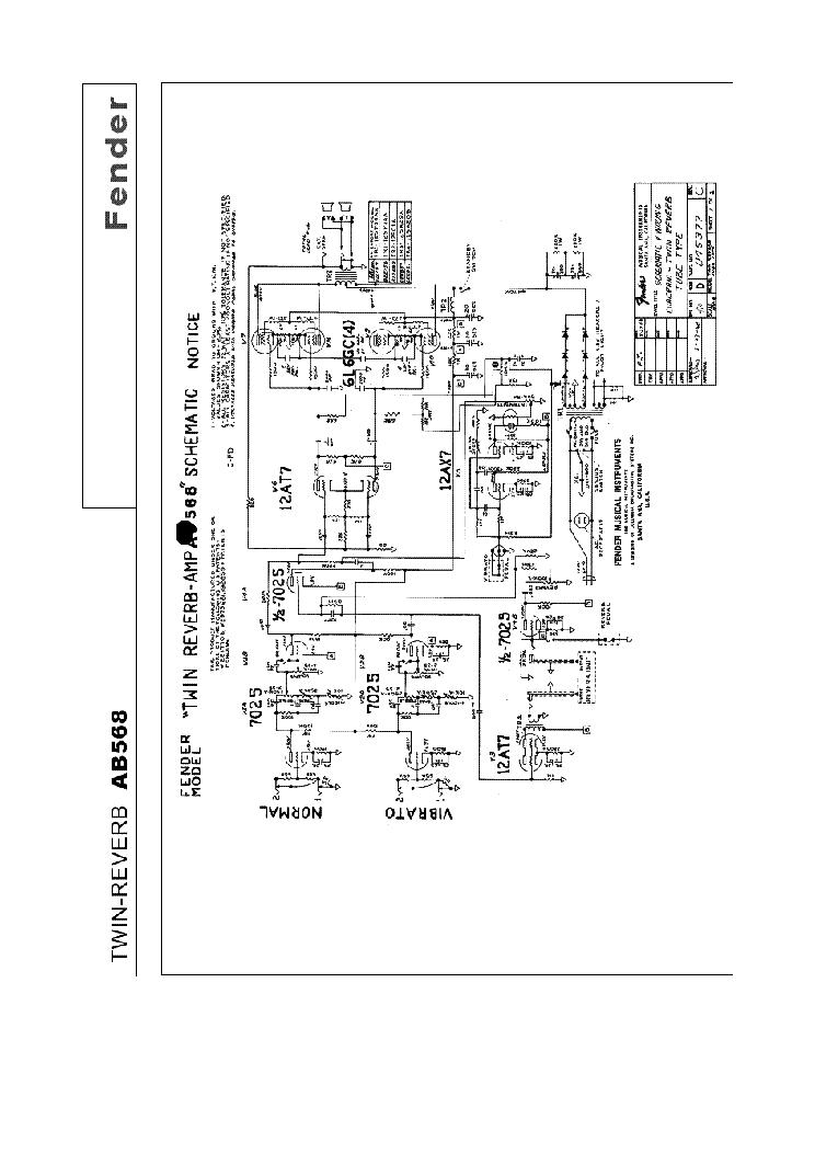Fender Twin Reverb Schematic on