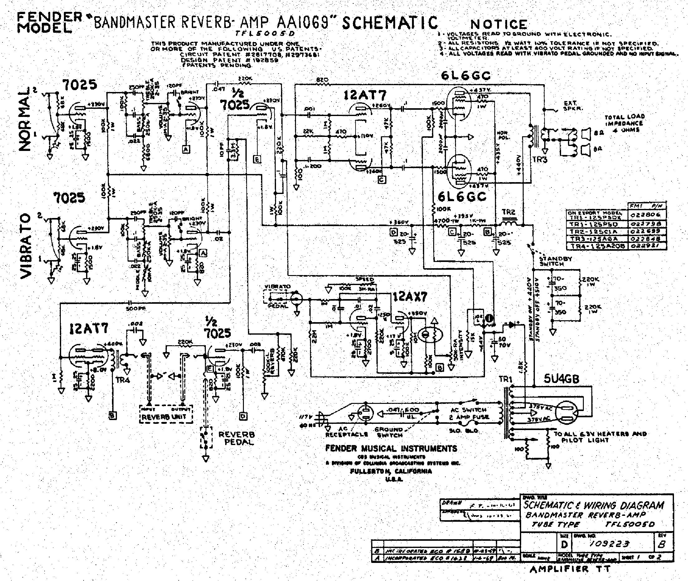 FENDER PERFORMER 1000 SCHEMATIC PDF DOWNLOAD