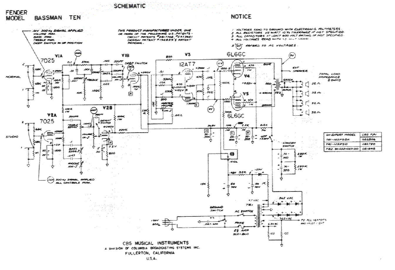 Fender Bassman Ten Wiring Schematic Opinions About Diagram Deluxe Reverb 10 Sch Service Manual Download Schematics Eeprom Rh Elektrotanya Com 1959 70