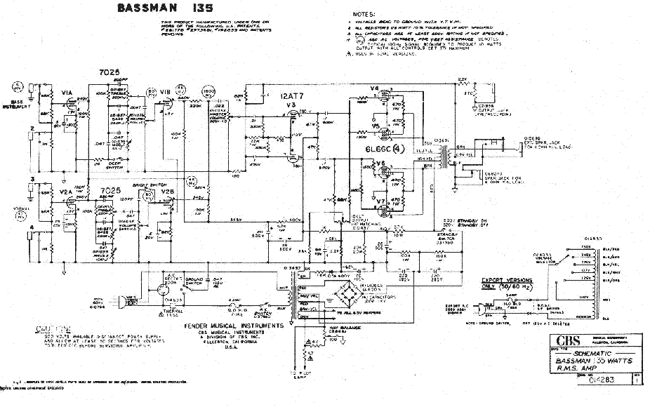 bassman bass amp schematic wiring diagramfender bassman 100 manualbassman bass amp schematic 7