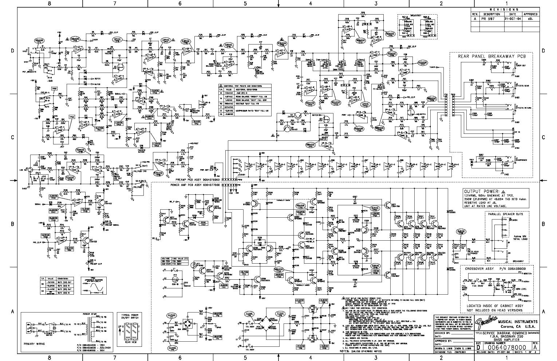 FENDER BASSMAN 250 FBA SCHEMATIC REV-A Service Manual