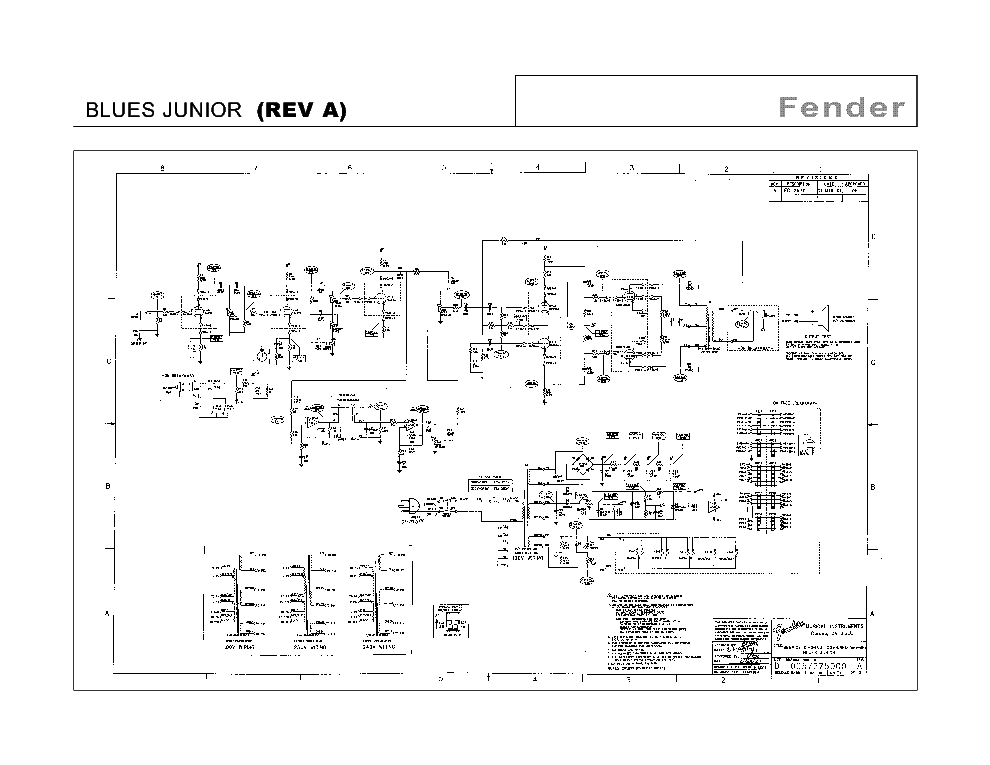 FENDER BLUES JUNIOR REV A SCH Service Manual download ... on