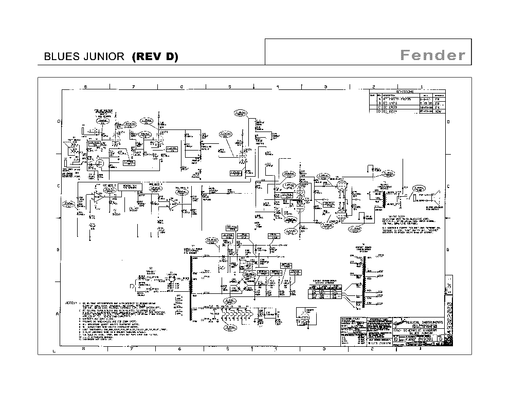 Fender Blues Junior Wiring Diagram