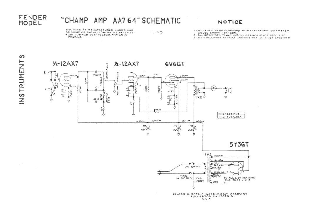 FENDER SUPER-CHAMP-X2-COMBO SM Service Manual download, schematics on