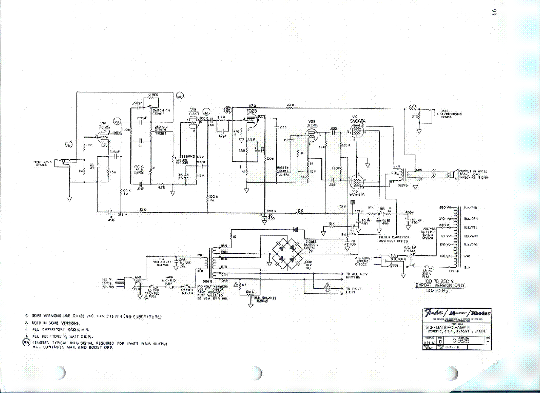 Fender Ch  Clone Kit Wiring Diagrams