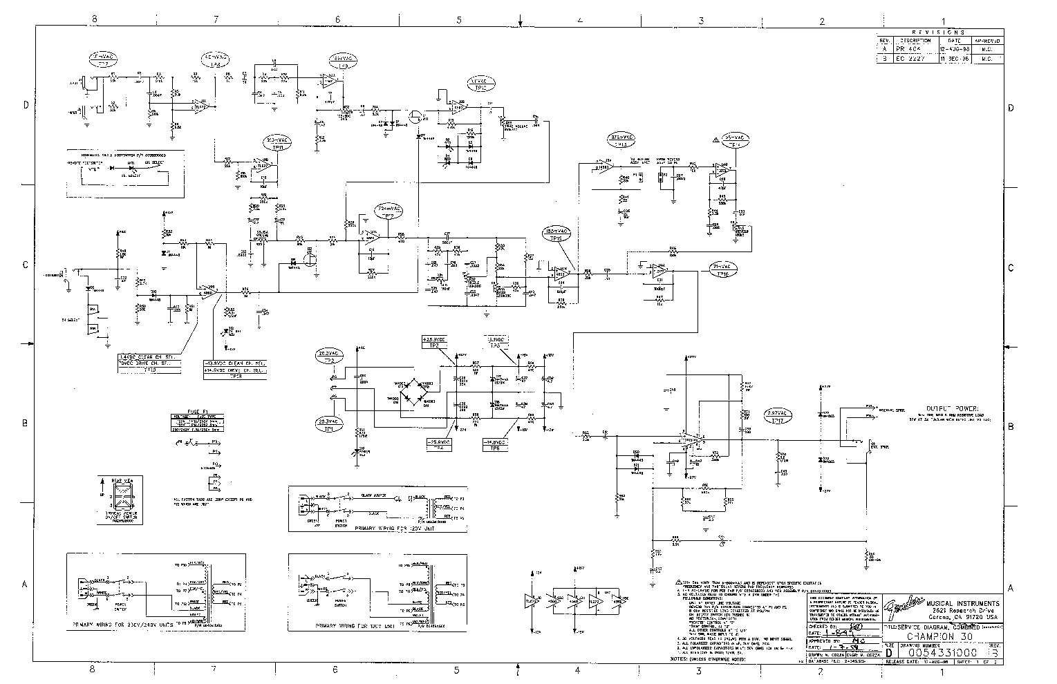 FENDER CHAMPION-30 SCH Service Manual download, schematics, eeprom