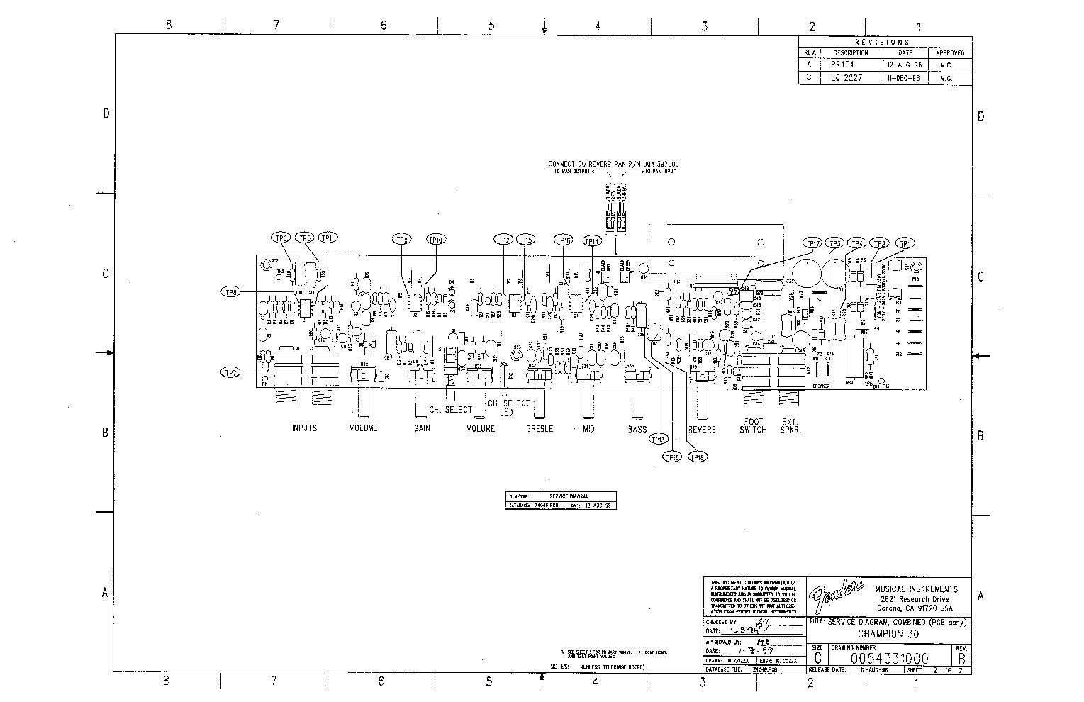 FENDER CHAMPION-30 SCH Service Manual download, schematics ... on